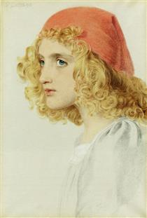 The Red Cap - Frederick Sandys