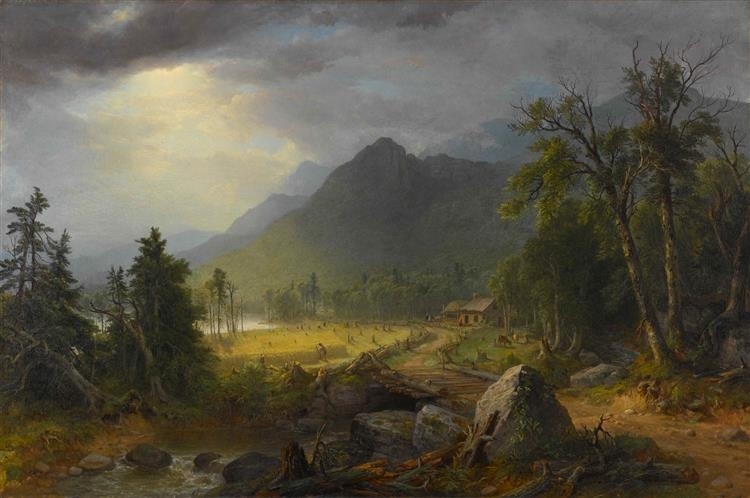 the First Harvest in the Wilderness - Asher Brown Durand