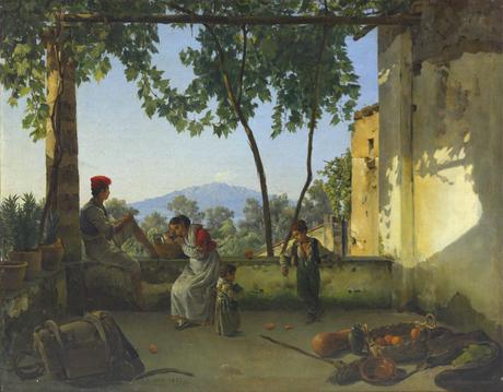 Balcony. In Sorrento, 1827 - Silvestr Shchedrín