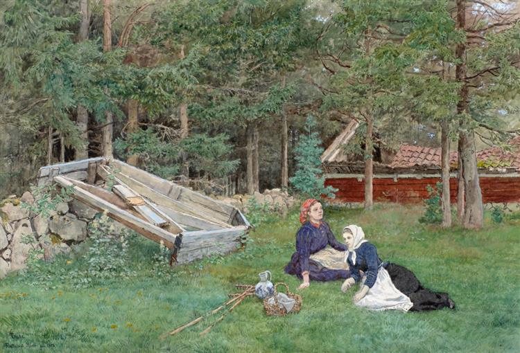 den Gamle Sneplov Ved Skovkanten - Hans Gude