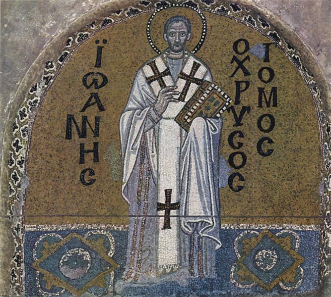 Hl. Johannes Chrysostomus, Erzbischof Von Istanbul, c.867 - Byzantine Mosaics