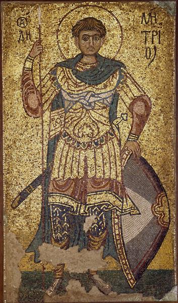 Saint Demetrius Solunsky (Demetrius of Thessaloniki), c.1113 - Byzantine Mosaics