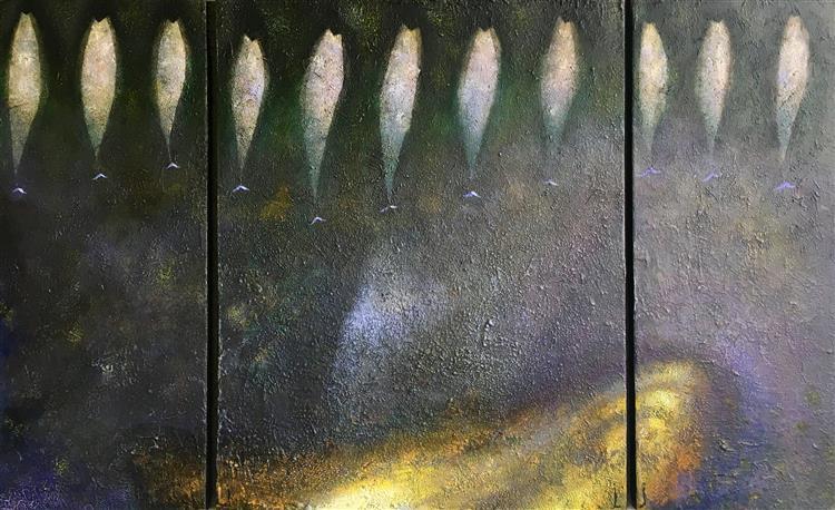 Gelbes Kanapee, Triptychon, 2016 - 2018 - Lech Jankowski