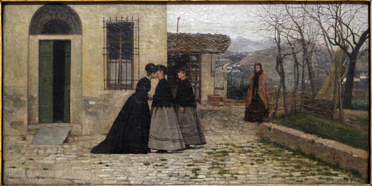 La Visita, 1868 - Silvestro Lega