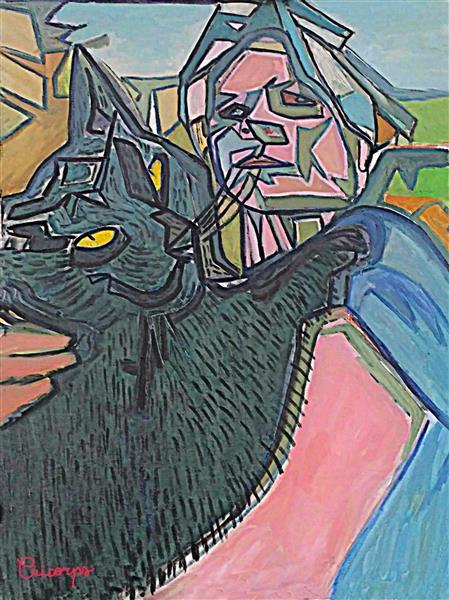 Gayané & Manouk the cat, c.2019 - Cricorps