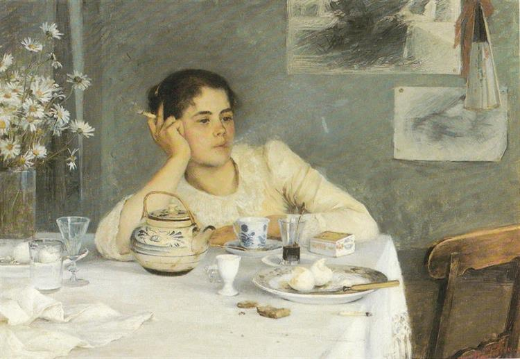 After Breakfast, 1890 - Elin Danielson-Gambogi