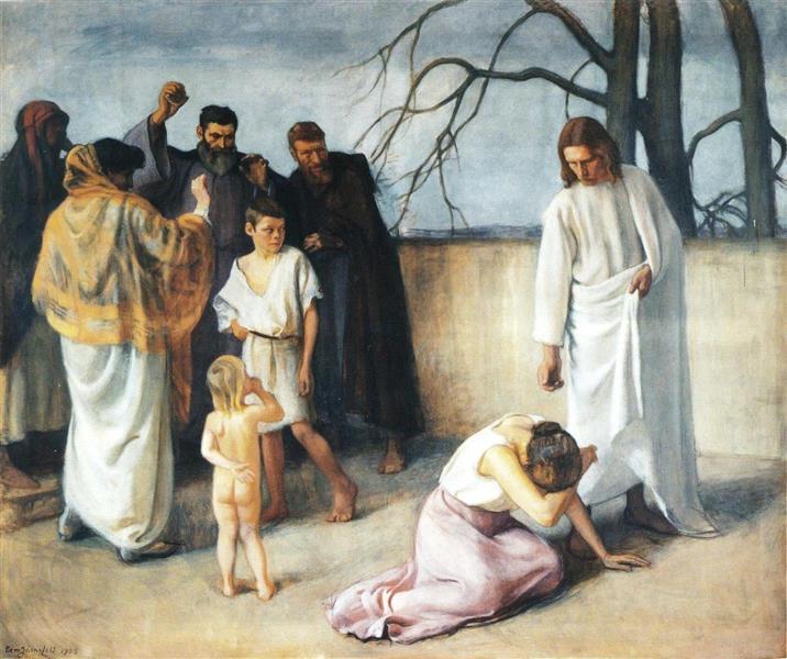 Jeesus ja langennut nainen, 1908 - Eero Järnefelt