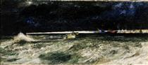 Naval Light Forces Going into Action - Richard Eurich
