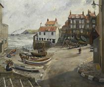 Robin Hood's Bay in Wartime - Richard Eurich