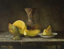 Bodegon Con Melon De Copiamuseo - Soleto