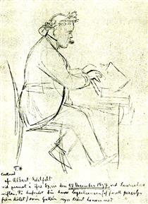 Karl August Tavastsjerna at the Piano - Альберт Эдельфельт
