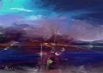 AL172   ABSTRACT LANDSCAPE - Alexis Digart