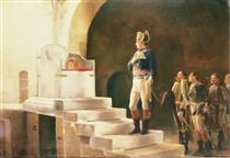 Napoléon À Aix-la-chapelle, Devant Le Trône De Charlemagne - Henri-Paul Motte