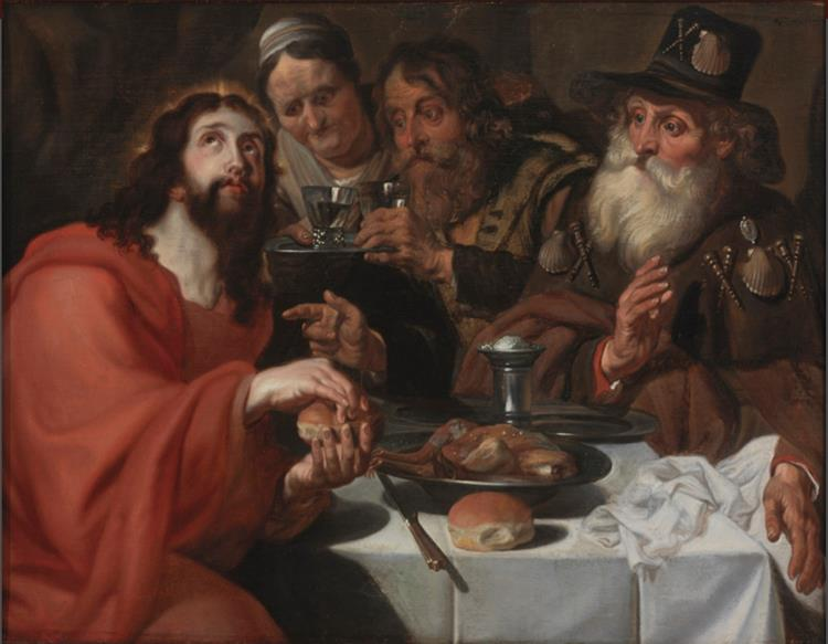The Supper at Emmaus, c.1650 - Jan Cossiers