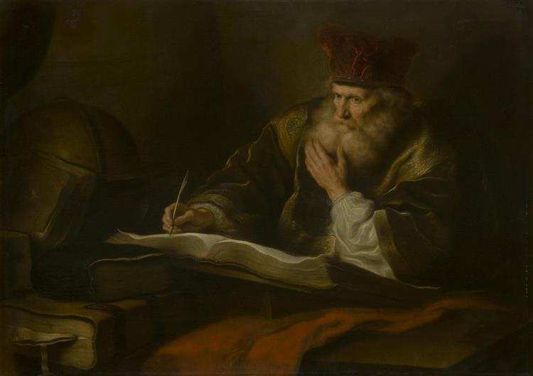 An Old Scholar, c.1645 - Саломон Конинк