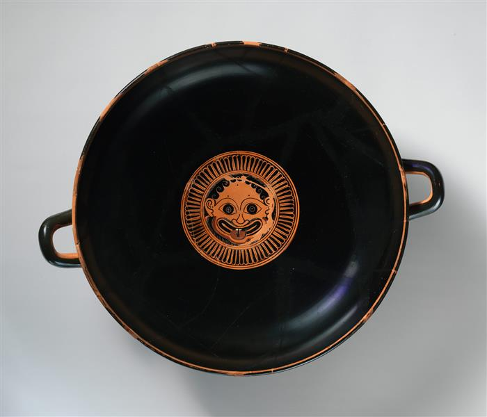 Terracotta Kylix -  Eye Cup (drinking Cup), c.530 BC - Ancient Greek Pottery
