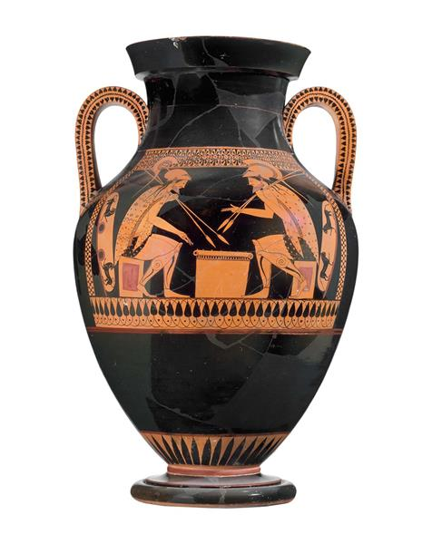 Two handled amphora with Achilles and Ajax, c.520 BC - Céramique grecque antique