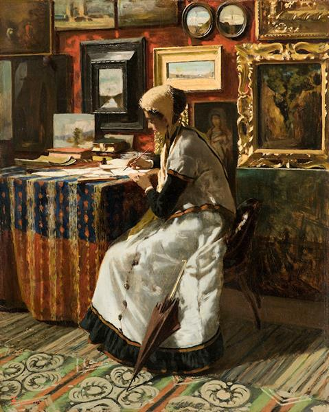 Not being able to wait, or The letter, 1867 - Telemaco Signorini