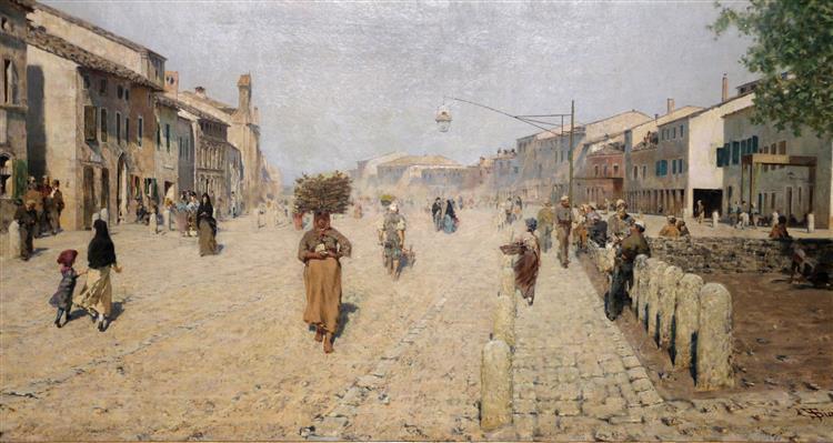 Sobborgo Di Porta Adriana a Ravenna, 1875 - Telemaco Signorini