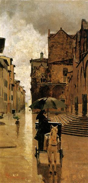 Via De' Malcontenti, 1886 - Телемако Сіньйоріні