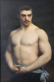 Portrait of Maurice Dériaz - Gustave Courtois