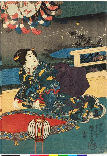 The Sixth Month (Center), c.1849 - Utagawa Kuniyoshi