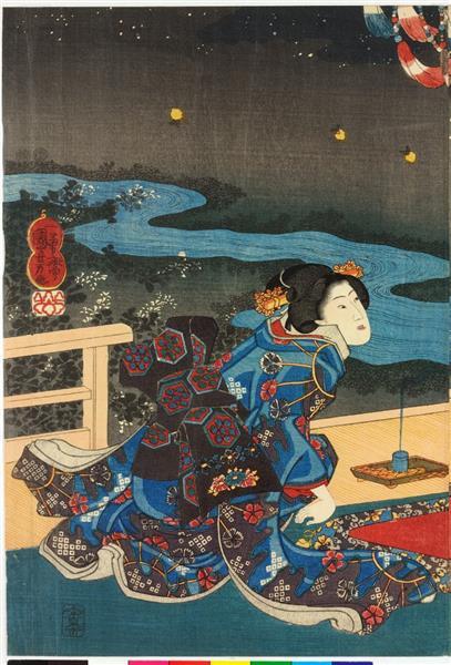 The Sixth Month (Left), c.1849 - Utagawa Kuniyoshi