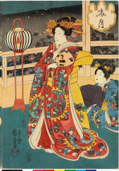 The Sixth Month (Right), c.1849 - Utagawa Kuniyoshi