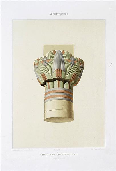 Architecture : chapiteau cratériforme (XVIIIe dynastie), 1878 - Émile Prisse d'Avennes