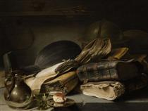 Still Life with Books - Jan Lievens