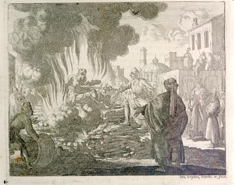 Burning of Polycarp, Smyrna, AD 168, 1685 - Jan Luyken