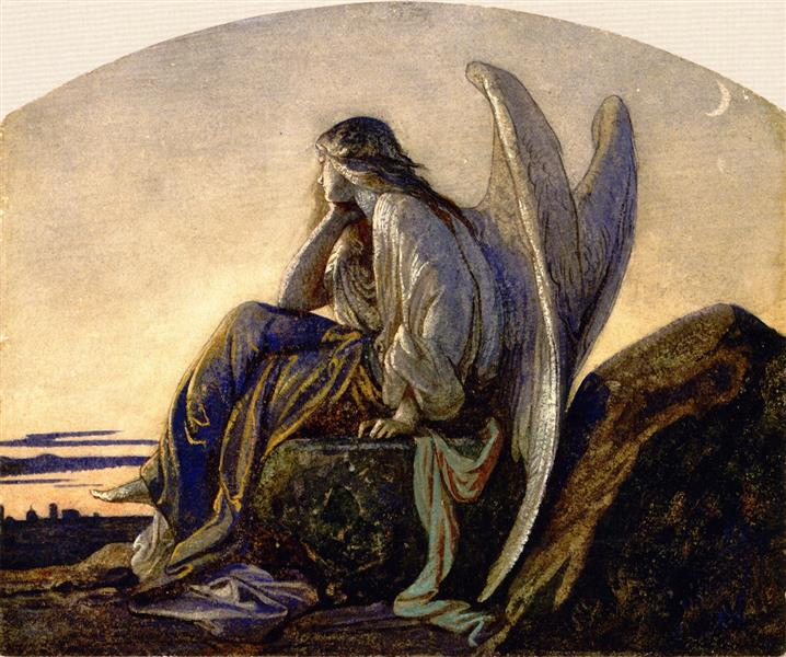 The Evening Angel, c.1848 - Alexandre Cabanel