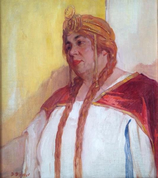 Portrait of Hristina Morfova, c.1920 - Dobri Dobrev