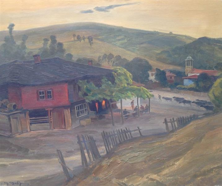 At Dusk, 1945 - Dobri Dobrev