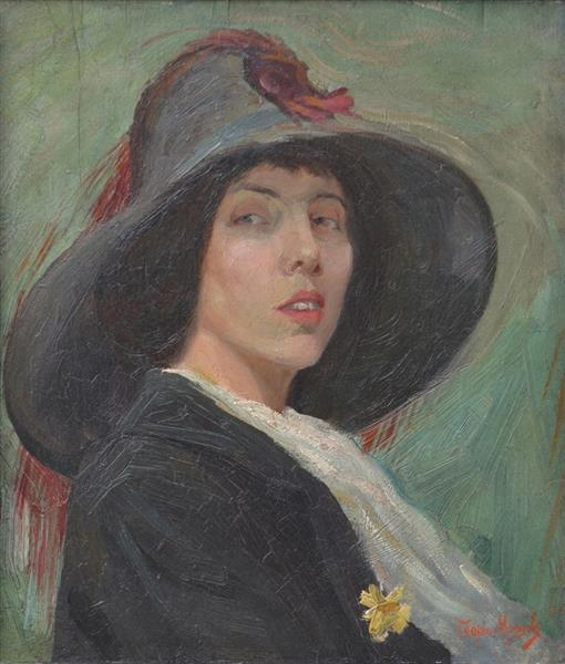 Portrait of Anna Masheva - Georgi Mashev
