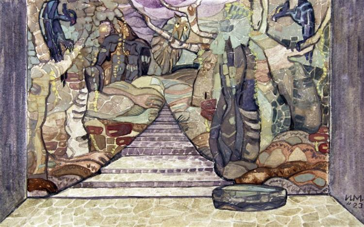 Decor with Birds, 1923 - Ivan Milev
