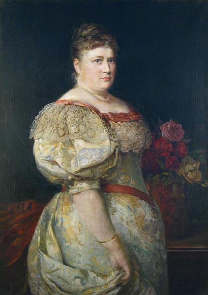 Portrait of Amalia Gavrilova - Ivan Mrkvička
