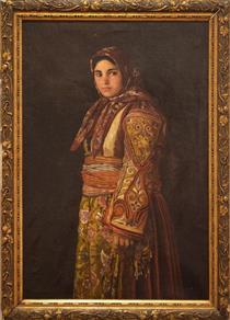 Radka Hadzhinikolova in a Macedonian Costume - Ivan Mrkvička