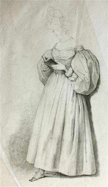 Mujer Leyendo, 1830 - 1838 - Rosario Weiss Zorrilla