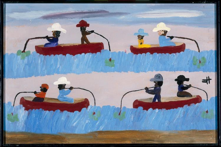Fishing, 1966 - Clementine Hunter