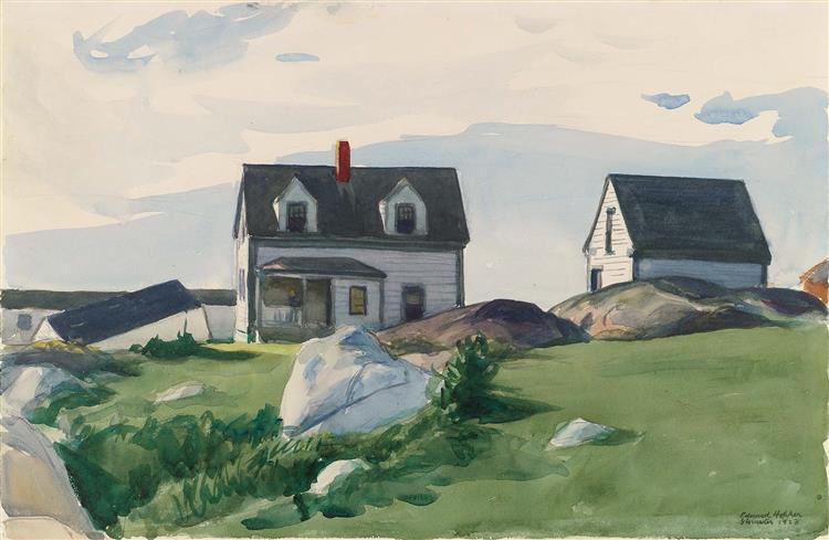 Houses of Squam Light, Gloucester, 1923 - Edward Hopper