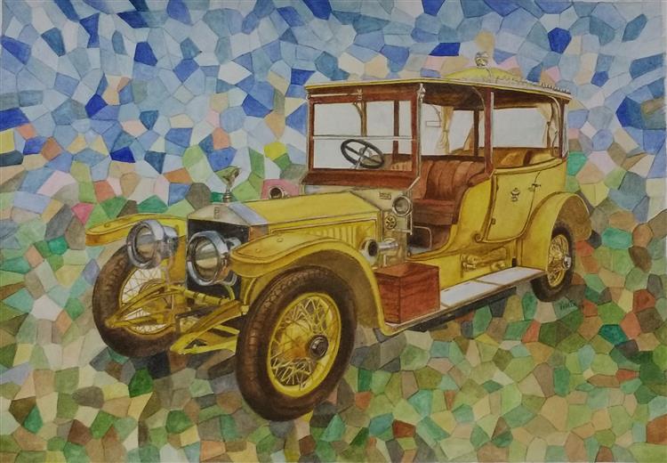 Hyerabad Thronecar Rolls Mosaic - Vidita Singh