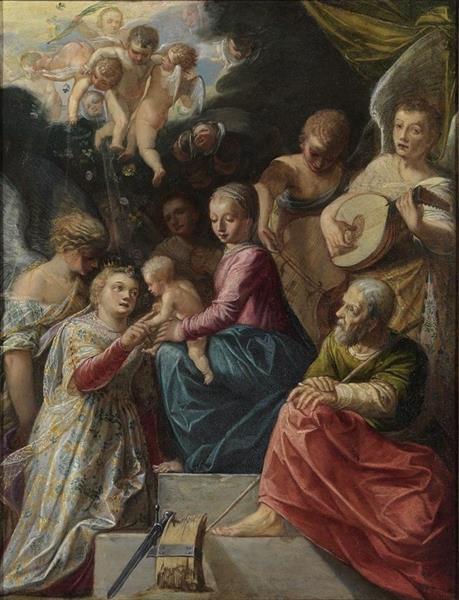 The Mystic Marriage of St. Catherine, 1599 - Адам Эльсхаймер