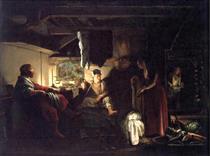 Jupiter and Mercury at Philemon and Baucis - Adam Elsheimer