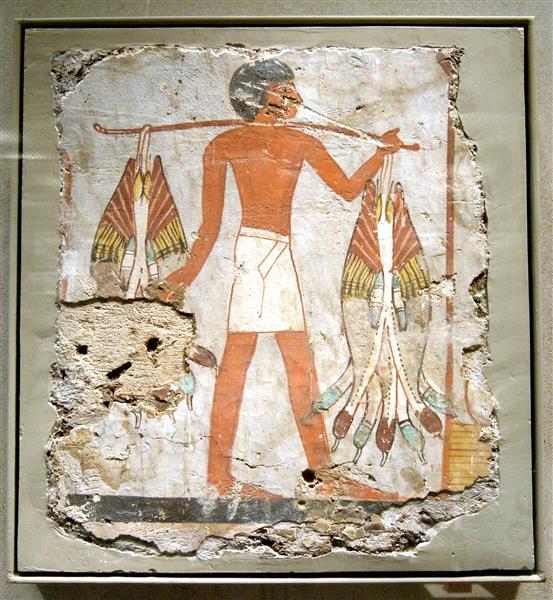 Man Carring Ducks, c.1390 BC - Ancient Egypt