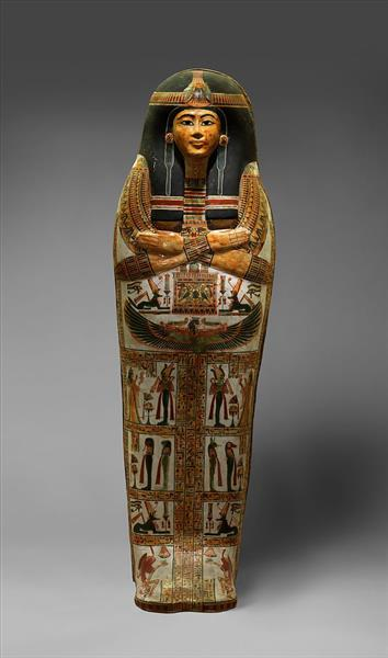 Outer Coffin of the Singer of Amun Re, Henettawy, c.1000 - c.945 BC - Ancient Egyptian Painting