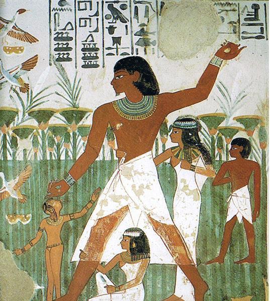 Nacht Beim Fischen, c.1390 BC - Ancient Egyptian Painting