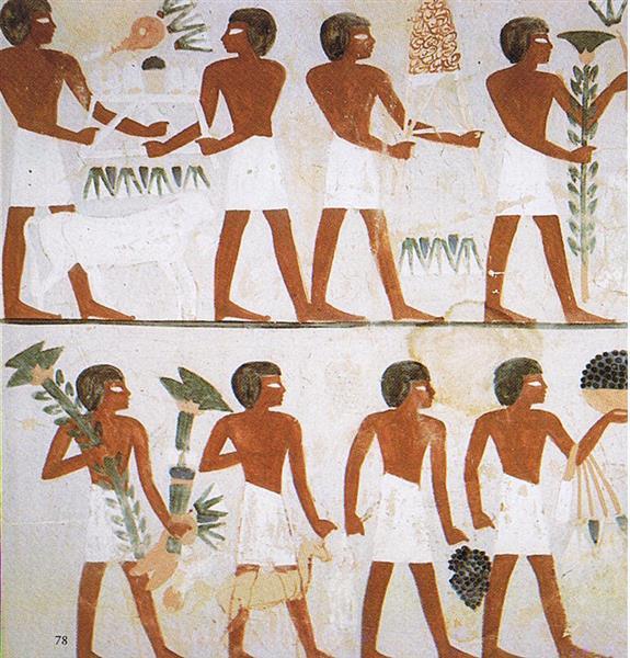 Diener Bringen Opfergaben, c.1390 BC - Ancient Egypt