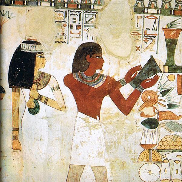 Tomb of Nakht, c.1390 BC - Ancient Egyptian Painting