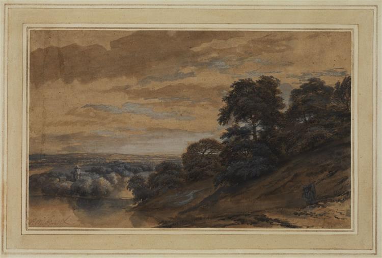 Landscape with a Wayfarer - Adam Elsheimer